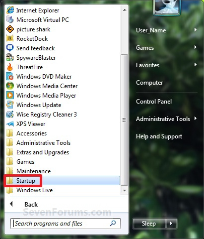 Windows, How to run an application at Windows Startup
